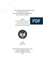Skripsi Interferensi Bahasa Sunda Dalam Bahasa Jawa