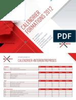 Calendrier formations septembre - décembre 2012