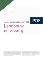 Beleidsnota Landbouw en Visserij
