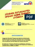 HUGO MARTIN ATOMICA CORDOBA OPINION ESTUDIANTES ENERGIA ATOMICA