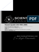 Manuel Qualité ISO9001:2008 Scientific Evolution Sàrl