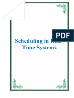 Scheduling in Real- Time Systems
