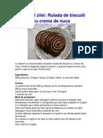 Desertul Zilei - Rulada de Biscuiti Cu Crema de Nuca