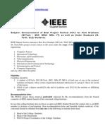 Best PG&UG Project 2012_IEEE Gujarat Section