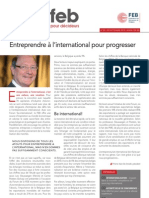 Entreprendre à l'international pour progresser, Infor FEB 28, 20 septembre 2012