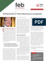Entreprendre à l'international pour progresser, Infor FEB 28, 20 septembre 2012