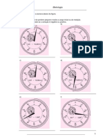 Exercícios Relógio Comparador