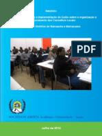 Relatório   Avaliação da adequação e implementação do Guião sobre a organização e o funcionamento dos Conselhos Locais-
