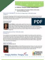 Autism Center 2012 Fall Workshop Flyer