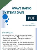 Microwave Radio System Gain