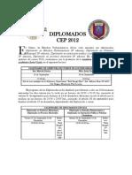 Diplomados del Centro de Estudios Parlamentarios 2012