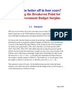 Predicting the Breakeven Point for a US Budget Surplus