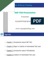 SAP TAO 2.0 DEMO