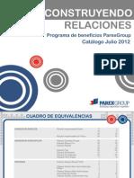 Construyendo Relaciones - Programa de Beneficios - Catalogo 2012