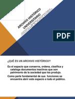 Presentacion Archivo Histórico Universitario