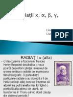 Radiaţii x, gama beta si delta