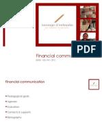 2012 FinCom Introduction & Organisation