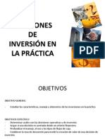 Decisiones de Inversion en La Practica