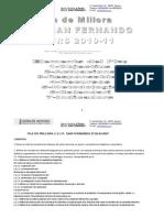 (6a)Plan Mejora Millora Aprobadosan Fernando 20102011contel