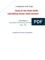 Deductions Made While Calculating Gross Income - Income Tax