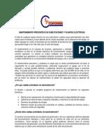 MANTENIMIENTO PREVENTIVO EN SUBESTACIONES Y PLANTAS ELÉCTRICAS