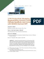 3 Pg Produc. Modeling of Regenerating Amazon Forest