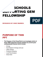 Grad Schools Supporting Gem Fellowship