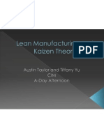 lean manufacturing and kaizen theory powerpoint