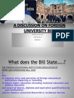Foreign University Bill Final