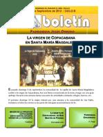 Boletin Parroquial Hoja Externas 16 de Sep