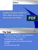 Building Windows 8 Metro Style Applications with JavaScript and HTML5