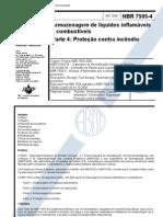 NBR 7505-4 - Armazenagem de Produtos Inflamßveis e CombustÝveis - ProteþÒo Contra IncÛndio