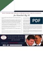 Joe Manchin's Big 10