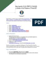installing apache, mysql, php