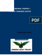 TESTIMONIAL THERAPY – A PATH TOWARDS JUSTICE