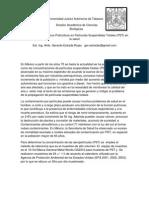 Problemática de Partículas suspendidas totales de HCs en vhsa,tab