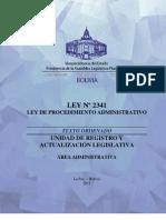LEY_2341 Procedimiento Administrativo