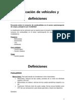 Clasificacion de Vehiculos y Definiciones