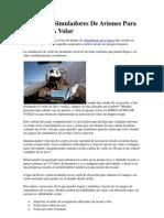 Juegos de Simuladores de Aviones Para Aprender a Volar
