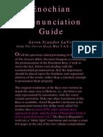 Enochian Pronounciation Guide by Anton Szandor Lavey