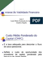 Análise de Viabilidade Financeira - Aula 4 - Custo de Capital