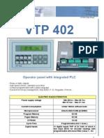 Hoja Tecnica PLC'S  VTP 402