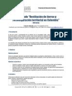 Programa Diplomado Restitución de Tierras y Reconfiguración Territorial en Colombia