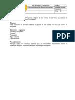 Plan de Limpieza Protocolo 1