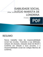 RESPONSABILIDADE SOCIAL NO COLÉGIO MARISTA DE LONDRINA