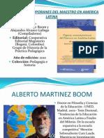 Figuras Contemporanes Del Maestro en America Latina