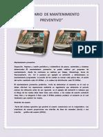 Glosario de Mantenimiento Preventivo