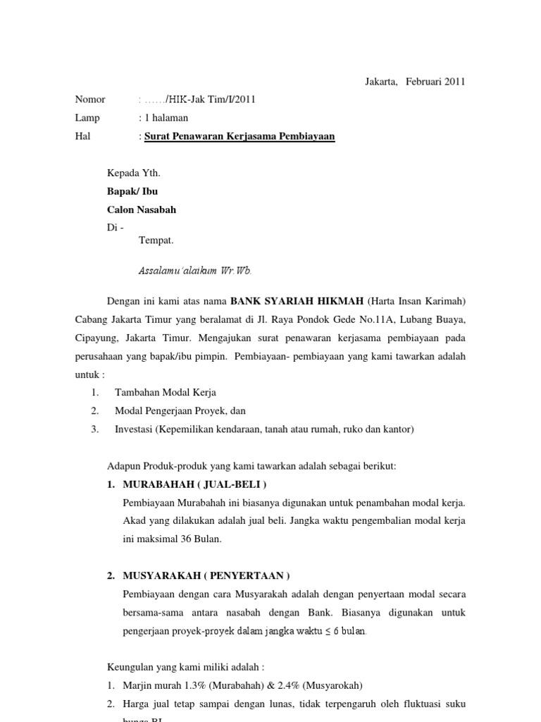 Contoh Surat Penawaran Rumah Dari Developer Surat