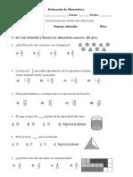 Evaluación de fracciones 5°