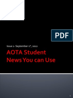 AOTA Student Newsletter Issue 1